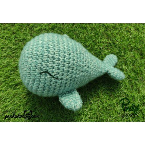 Horgolt figura, bálna