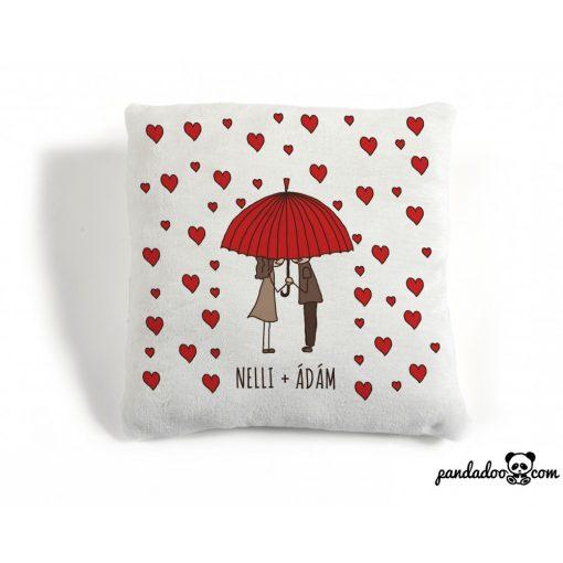 Szerelmes esernyősök - párna nevekkel